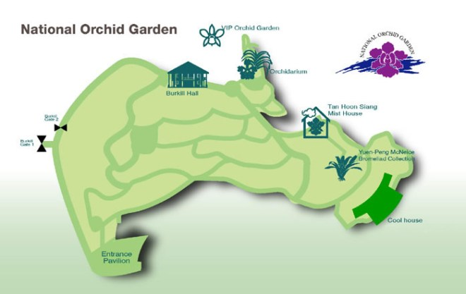 national orchid garden map