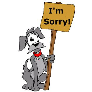 Apologize Dog I am sorry cartoon